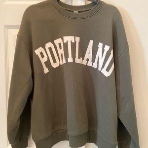 Olive Green Target Sweatshirt